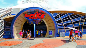 Space mountain ride at disneyland hong kong Stock Photography