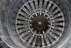 Space museum jet engine. Photo of inside of a vintage jet engine royalty free stock image