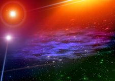 Space. Mystical light Royalty Free Stock Photo