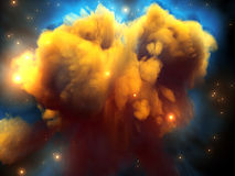 Space nebula. A big nebula in the space Stock Image