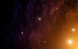 Space with nebula. Royalty Free Stock Images