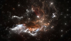 Space nebula. Space background with nebula and stars. Illustration Stock Images