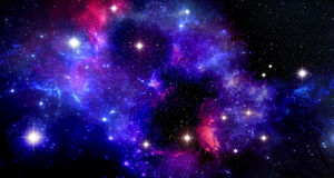 Space nebula Stock Photo