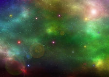 Space nebula  illustration Royalty Free Stock Photos