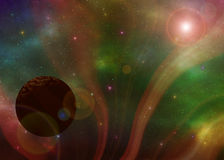 Space nebula  illustration Royalty Free Stock Photo