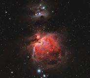 Space Nebula in Orion Constellation Stock Photography