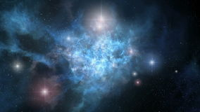 Space nebula rotation loopable stock footage