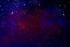 Space nebula. In star field Stock Image