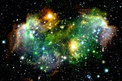 Space nebula. Star formation royalty free stock photography