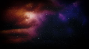 Space with nebula. Space with nebula and stars royalty free stock photography