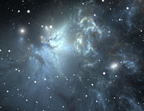 Space with nebula and stars Royalty Free Stock Photos