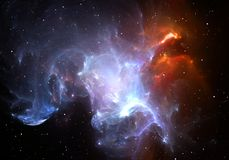 Space nebula. With the stars. Illustration Royalty Free Stock Image