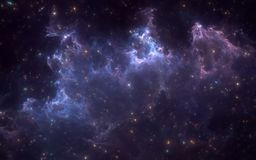 Space nebula with stars. For use with projects on science, research, and education. Royalty Free Stock Photo