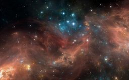Space nebula with stars. For use with projects on science, research, and education. Stock Photo