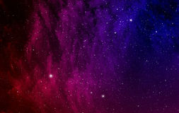 Space with nebula. Stock Photos