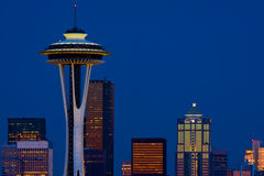 Space Needle. And Seattle at night Royalty Free Stock Image
