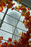 Space Needle and Artistic Glass Royalty Free Stock Photo