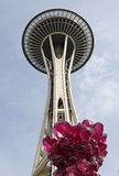 Space Needle and Chihuly Garden and Glass Stock Image