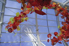 Space Needle from Chihuly Garden Stock Photography