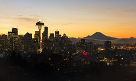 Space Needle at Dawn Royalty Free Stock Images