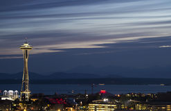 Space Needle at Dusk Royalty Free Stock Photo