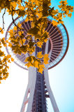 Space Needle In The Fall Royalty Free Stock Photos