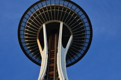 Space Needle. Looking up at the Space Needle, Seattle Washington Stock Image