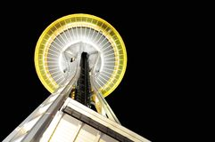 Space Needle at night Stock Photos
