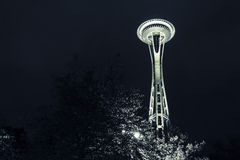 Space Needle at Night Stock Images