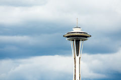 Space Needle On Cloud Background Royalty Free Stock Photography
