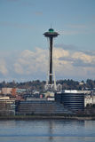 Space Needle from Puget Sound, Seattle, Washington Royalty Free Stock Image