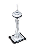 Space Needle in Seattle built from lego on the white background Stock Photo