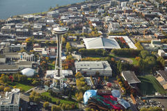 Space Needle and Seattle Center Stock Photography