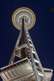 Space Needle Seattle at Night Stock Photos