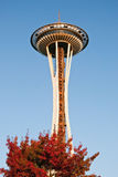Space Needle in Seattle during the sunset Royalty Free Stock Image