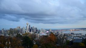 Space Needle of Seattle stock video footage