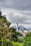 Space Needle view from Kerrys Park Royalty Free Stock Image
