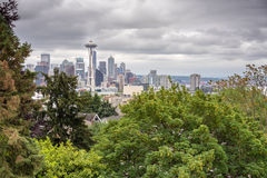 Space Needle view from Kerrys Park Stock Photography
