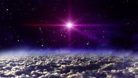 Space night star cross stock video footage
