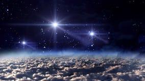 Space night white stars stock video footage
