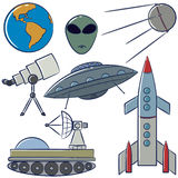 Space objects collection Royalty Free Stock Photo