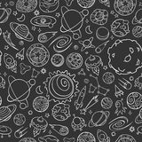 Space objects doodles vector illustration