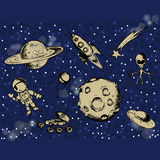 Space objects and symbols Stock Image