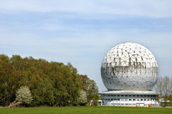 Space observation building Radar dome Radom Royalty Free Stock Image