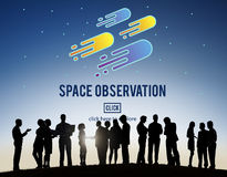 Space Observation Travel Astronomy Exploration Concept Royalty Free Stock Images