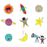 Space observer Royalty Free Stock Images
