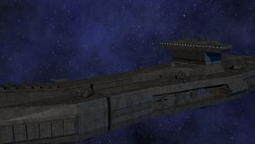 Space Opera: Large Space Battleship stock video footage