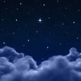 Space Or Night Sky Through Clouds Royalty Free Stock Photo