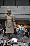 The space outside the excavation of the terracotta army. Entrance to the museum of the terracotta army. XIAN, CHINA - October 29, 2017: The space outside the royalty free stock photography