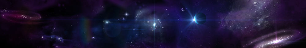 Space panorama landscape. view of the universe. Royalty Free Stock Photo